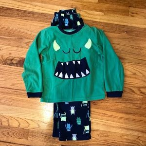 Warm and Cozy Monster-Print Pajamas by Carter's